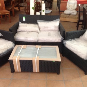Set divano4 pz,polyrattan telaio in alluminio ,per esterni