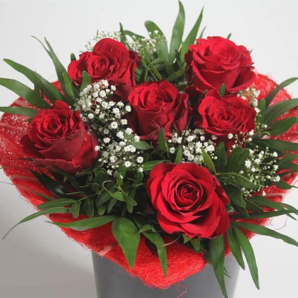 Estremamente cuore di rose rosse 7 | Masciandaro - Fiori e Piante FH06