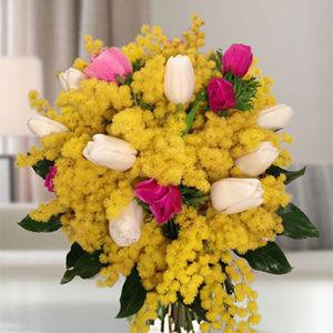 bouquet-mimosa-e-tulipani misti