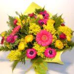 fiori misti con mimosa